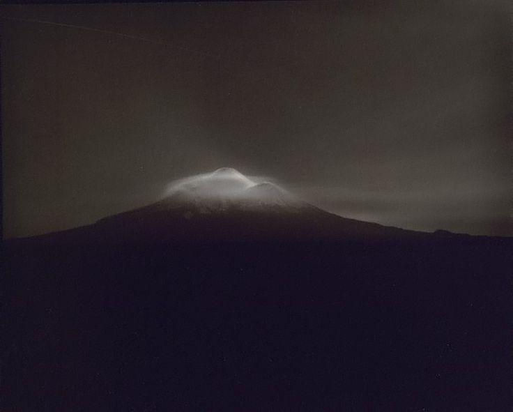 Laurence Aberhart, Taranaki from Oeo Road, under Moonlight, 1999