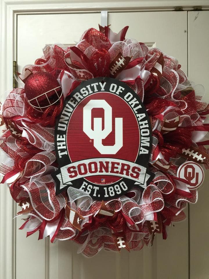 University of Oklahoma by Twentycoats Wreath Creations
