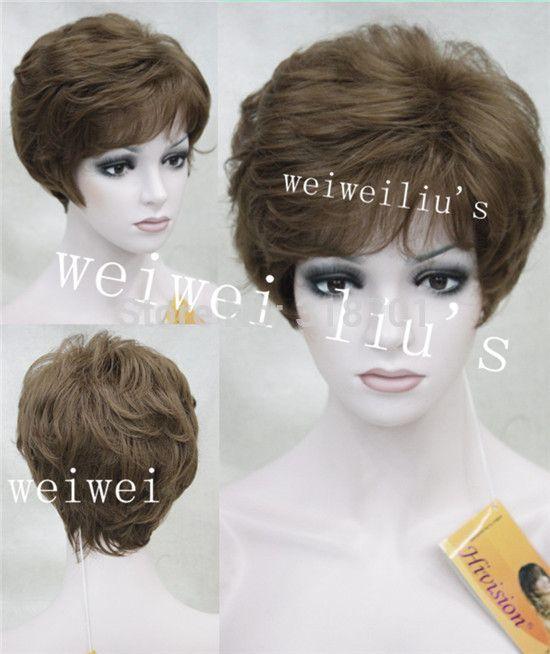Парик Женщины Мода короткие Вьющиеся Полный Волосы Пушистые Волосы Парики бесплатная доставка