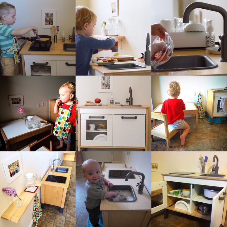 Of all the questions I recieve about Montessori, our little kitchen gets more questions than anything else. So, I decided I'd better put all the details in one place. We bought this IKEA…