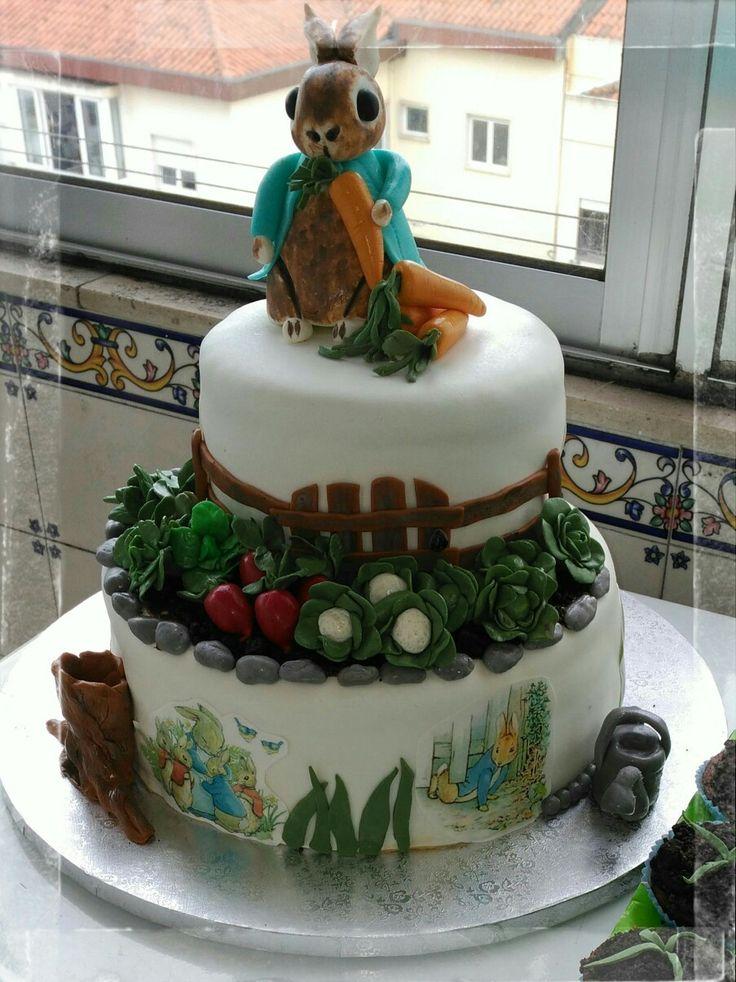 Peter Rabbit, Cake design, baby birthday