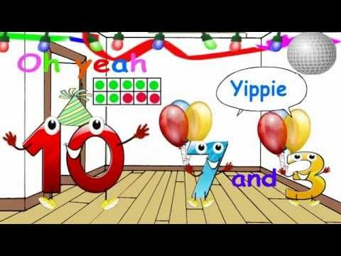 10 is having a party and inviting all his Friends! The Friends of Ten. A fun sing along song for kids about the number combinations of 10!