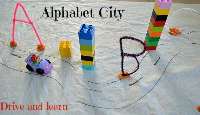 Kids engage alphabet activities by playing with and in a simple alphabet city. Before we start a quick tip. If you are working with a toddler, it is probably be(...)