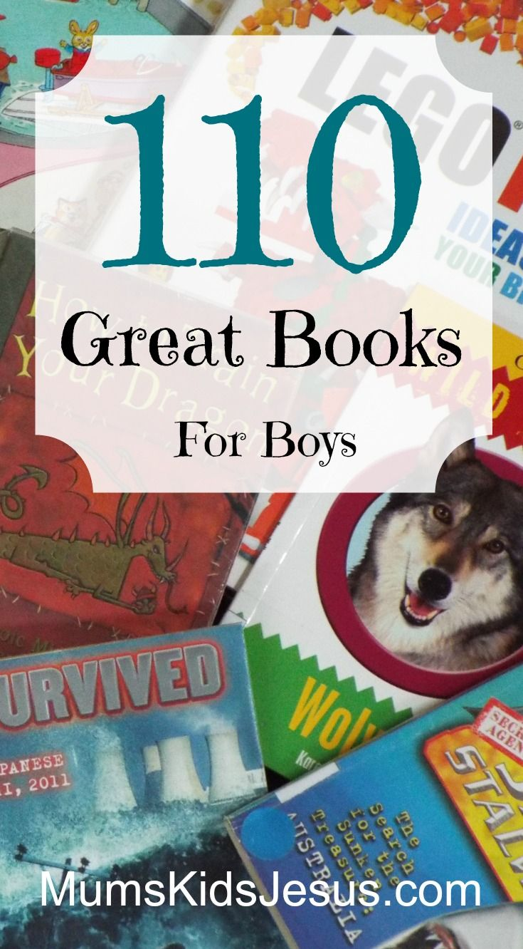 These are favourites with my 3 boys, and the boys in my library classes. Lots of wonderful books to choose from! Ages 3 to teen. Lots that girls will enjoy too!