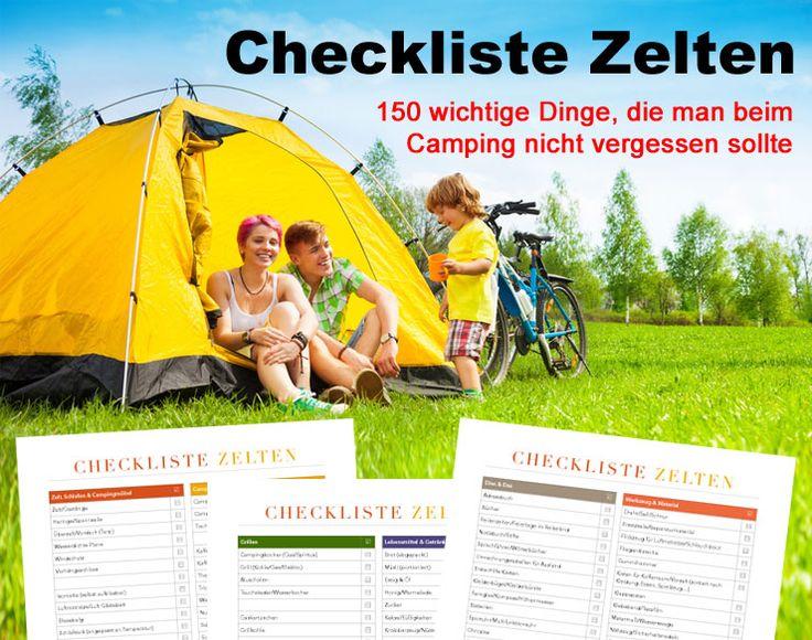 Checkliste Zelten – 150 wichtige Dinge, die man beim Camping auf keinen Fall vergessen sollte