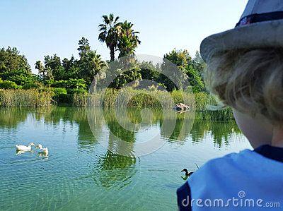 View at the lake shore in Antalya cultural park.