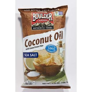 Boulder Canyon Coconut Oil Kettle Chips http://www.prevention.com/food/100-cleanest-packaged-food-awards-2016-crunchy-snacks/boulder-canyon-coconut-oil-kettle-chips