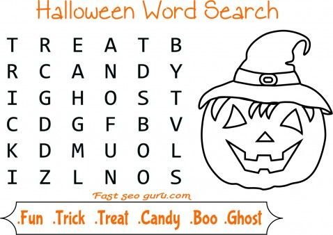 Easy halloween word search for kids - Printable Coloring Pages For Kids