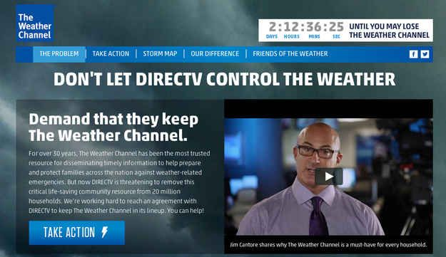 Storm Brews As DirecTV Looks To Drop The Weather Channel