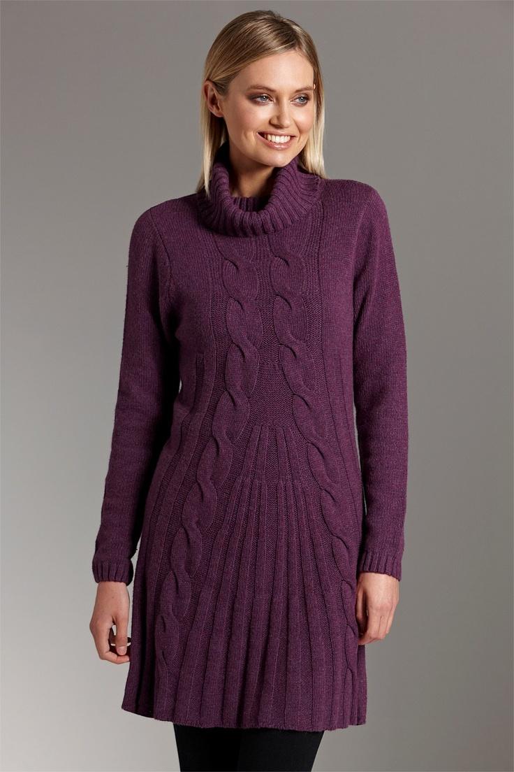 Purple knit tunic.