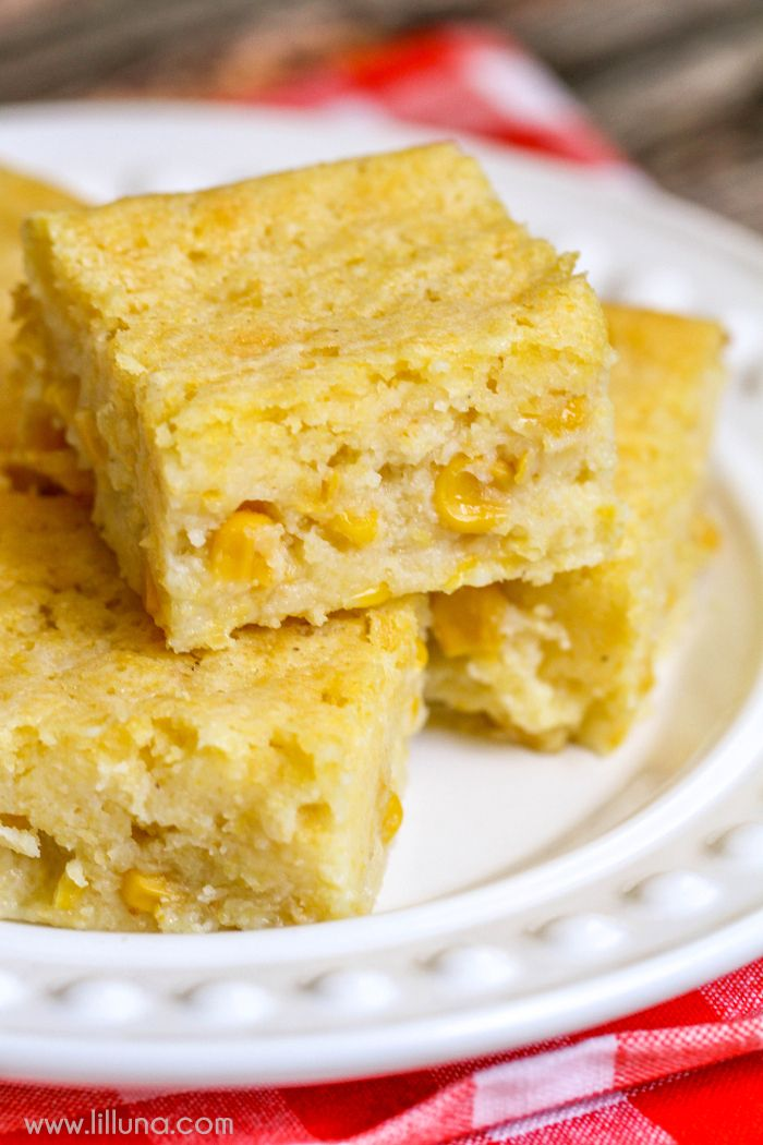 The EASIEST and YUMMIEST Corn Bread Recipe. It's savory and sweet and is a MUST-HAVE side dish recipe especially with soup!