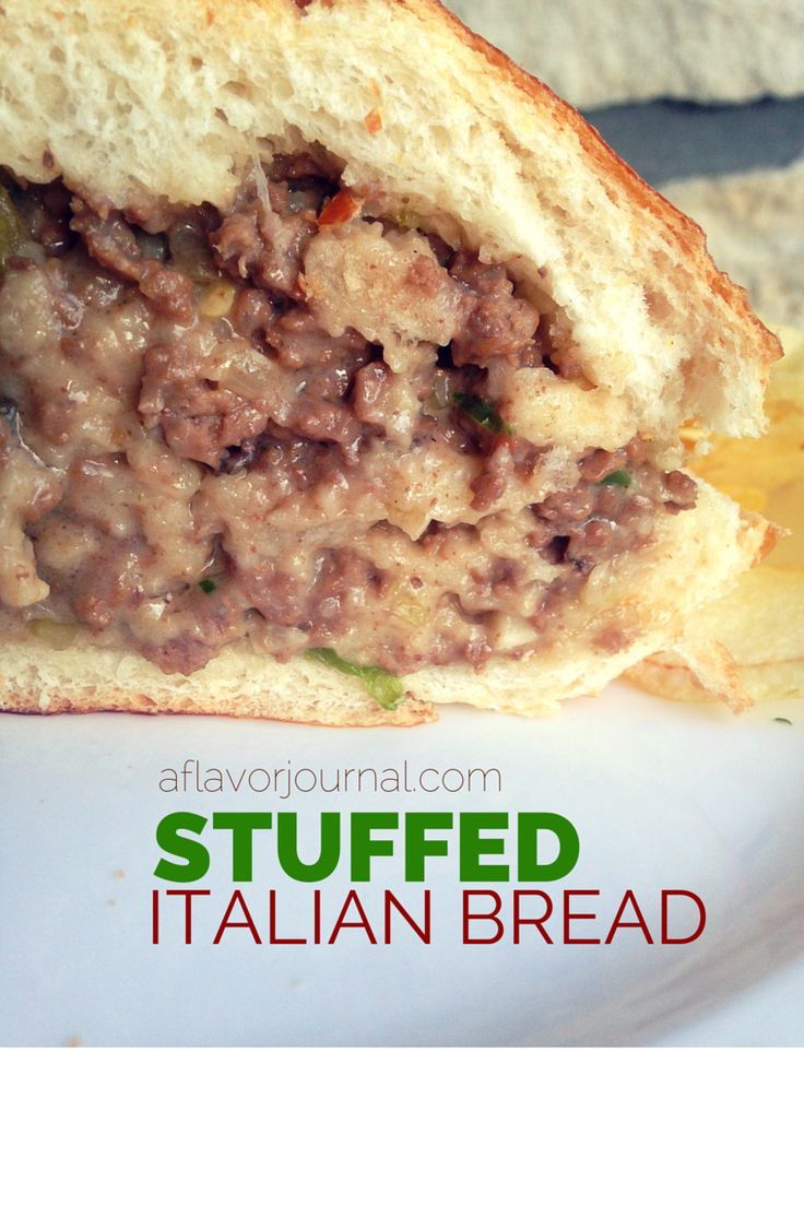 Stuffed Italian bread is a quick, easy weeknight dinner that packs TONS of flavor that cannot be beat. Must try twist on the sandwich! | a flavor journal.