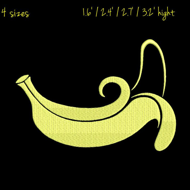 Banana Embroidery Design fruit pattern digital download by GretaembroideryShop on Etsy
