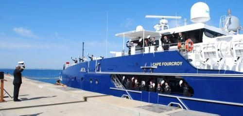 The first of two Austral patrol boats built for the Royal Australian Navy has entered service.