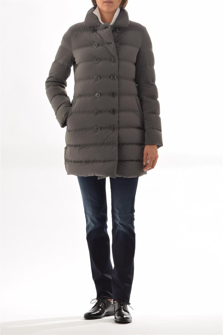 Woman down coat Aspesi - double breasted made of stretch fabric
