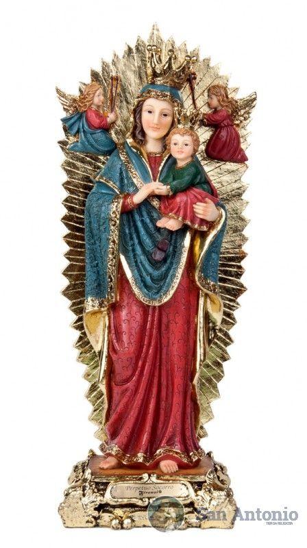 Virgen Del Perpetuo Socorro: La Virgen del Perpetuo Socorro es una advocación mariana. La imagen original es un icono procedente de Creta y venerado en Roma en la iglesia de los Agustinos, a finales del siglo XV, y desde 1866 en la iglesia romana de San Pedro.