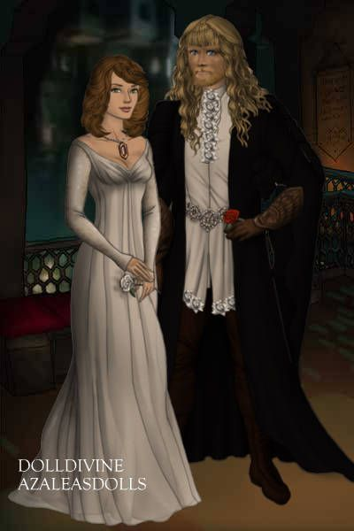 Beauty and the Beast - Catherine Chandler & Vincent Wells ~ by Kytheira ~ created using the LotR Hobbit doll maker | DollDivine.com