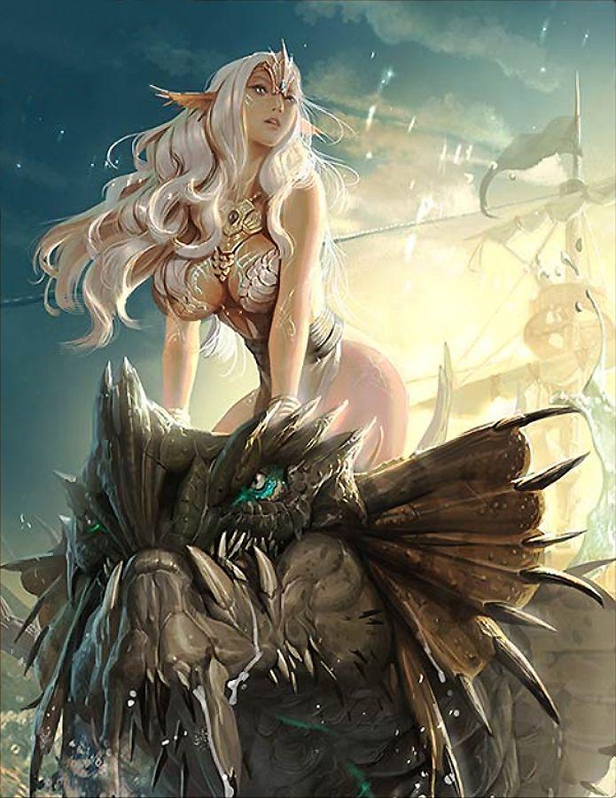 Artist: Unknown - Title: Unknown - Card: Sea Dragoon Cordula