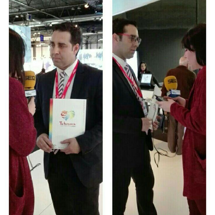 Entrevista al presidente de la Fundación Ciudades Medias del Centro de Andalucía y alcalde de #AlcalálaReal, Carlos A. Hinojosa Hidalgo en el stand de #Andalucía en #Fitur   http://media.radiolinares.es/facebook/20170120_EntrevistaTuhistoriaorg.MP3