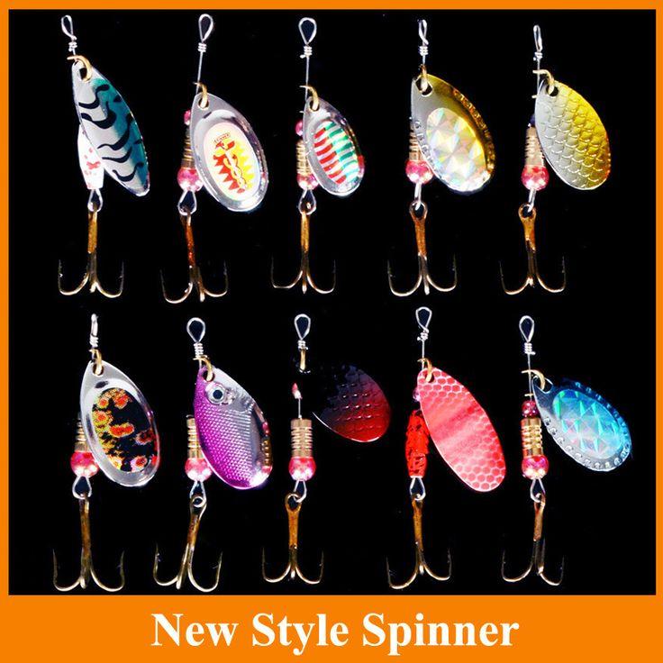 5 unids señuelo del hilandero Del Metal Señuelos de Pesca Cebo Duro del Agua Dulce Bass Leucomas del tipo de pez Minnow Fishing Tackle SP120SX302