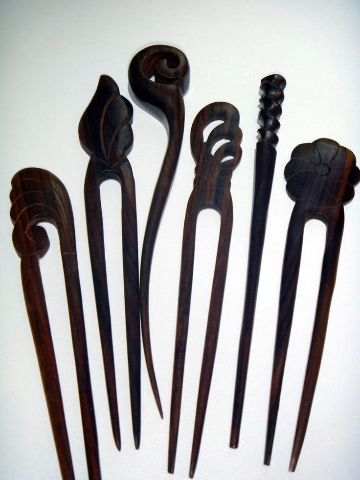 Details about women exotic carved wooden wood hair stick