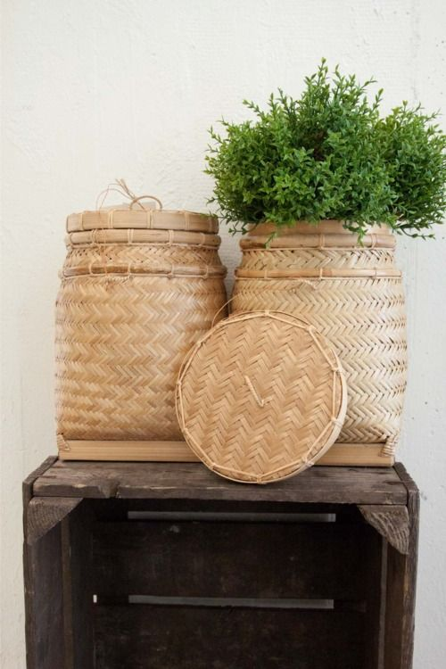 """Hand made baskets to cover your planting pots. BBC Boracay says: """" A very unique and decorative idea to display your plants in a different way..."""""""