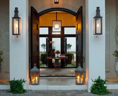 front door exterior ideas lighting