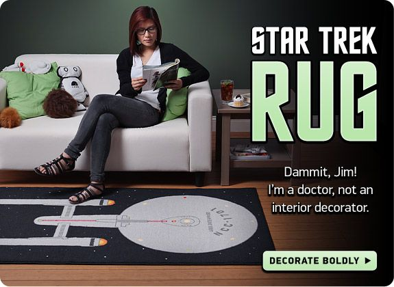 Star Trek Rug Quot Dang It Jim I M A Doctor Not An Interior