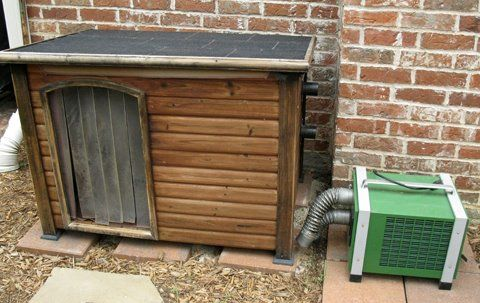 Air conditioned dog house.
