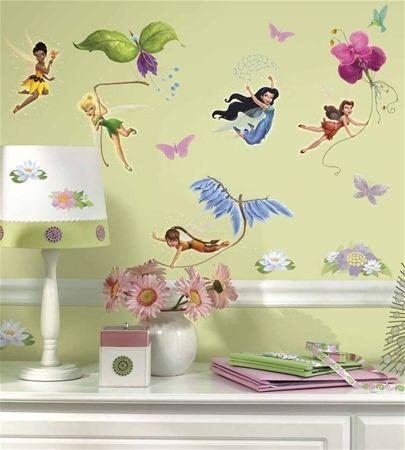 Large Disney Fairies Decals - Tinker Bell - Removable Wall Decals for Decorating Nursery, Kids Room, Classroom or Playroom