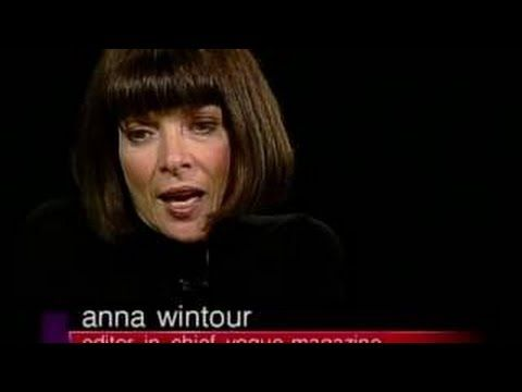 Vogue editor Anna Wintour interview on Yves Saint Laurent on Charlie Rose (2002) - YouTube