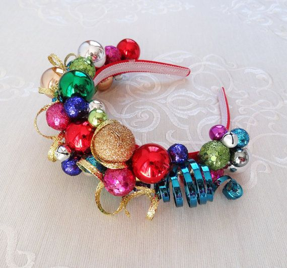 adult christmas headband tacky sweater party by thehoneycomb