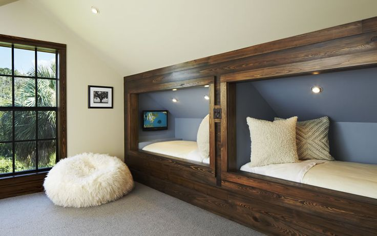 Awesome built in bunks!
