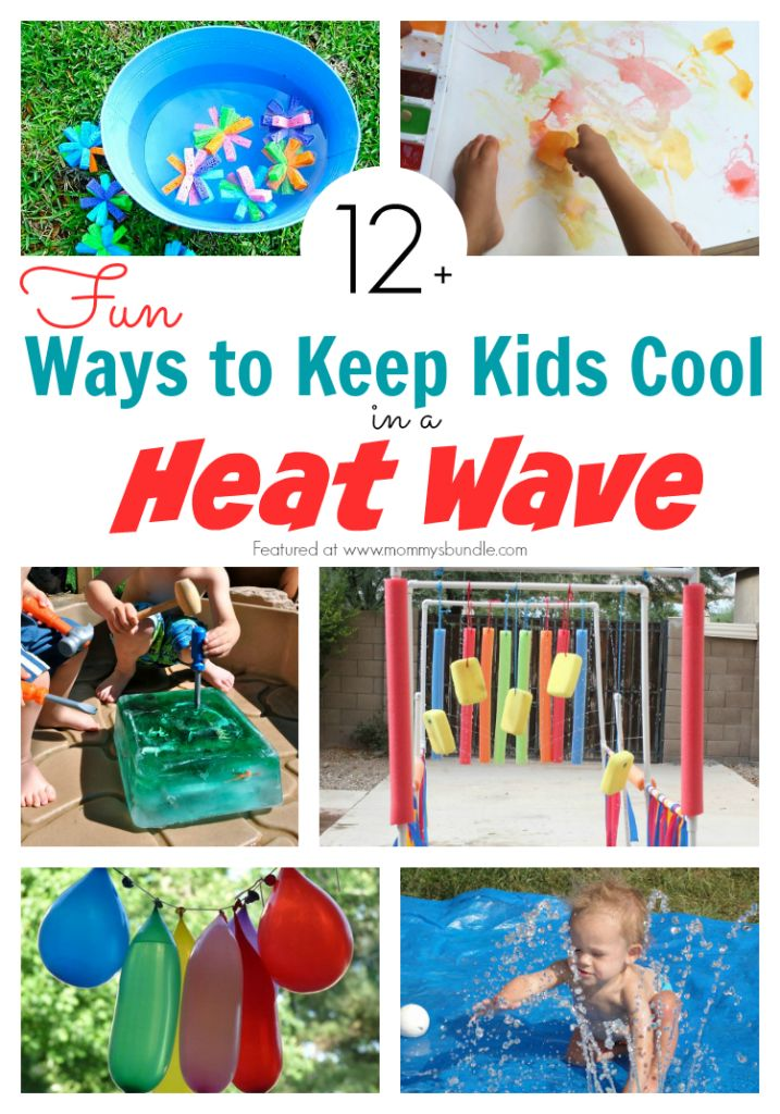 Fun ways to keep kids cool during a summer heat wave. Everything from water play ideas and DIY homemade treats to beat the heat!