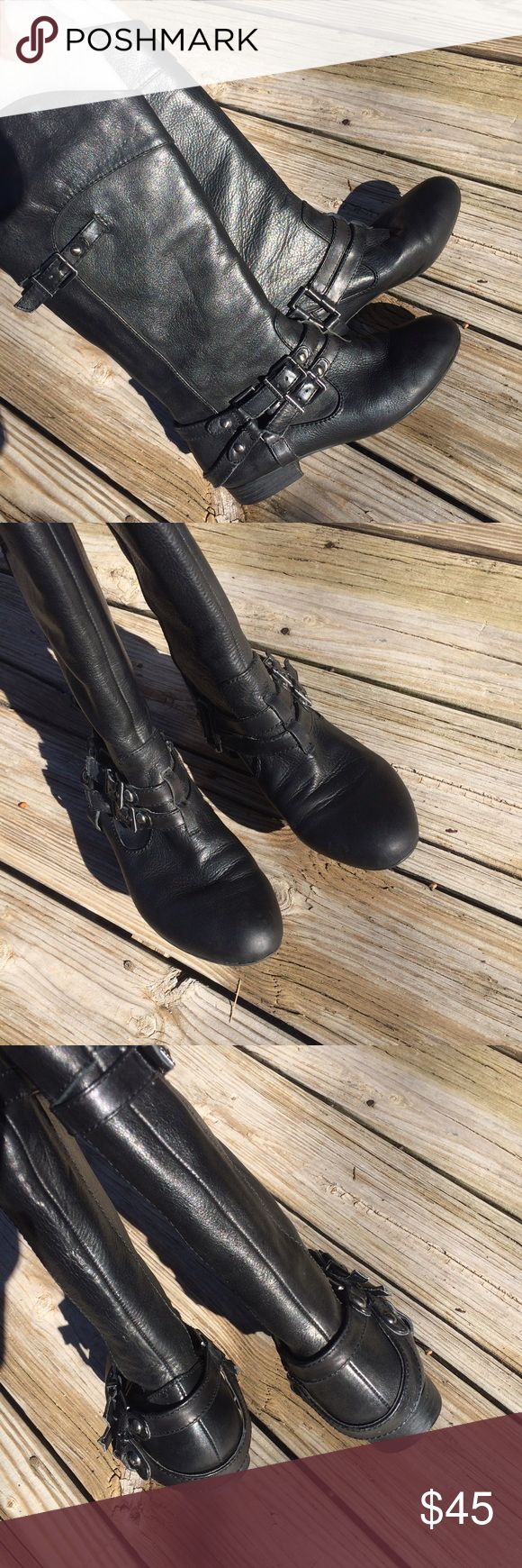 Gianni Bini Leather Boots Gianni Bini Leather Boots - Size 7 - Great condition, not worn many times. Thanks for looking Gianni Bini Shoes Combat & Moto Boots