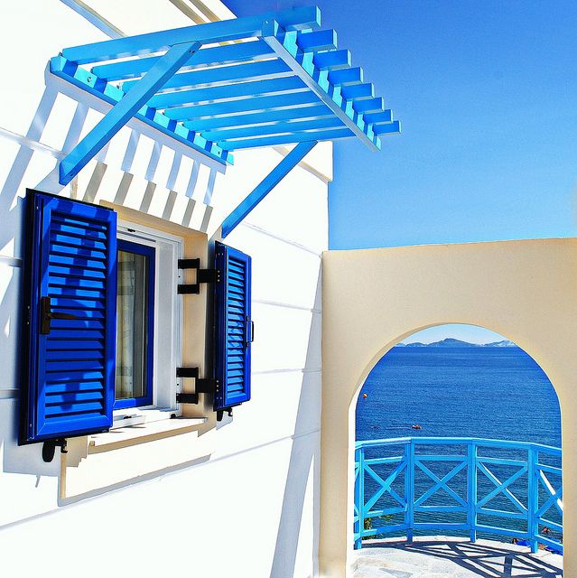 Dreams in white and blue, Kardamena on the island Kos, Greece.