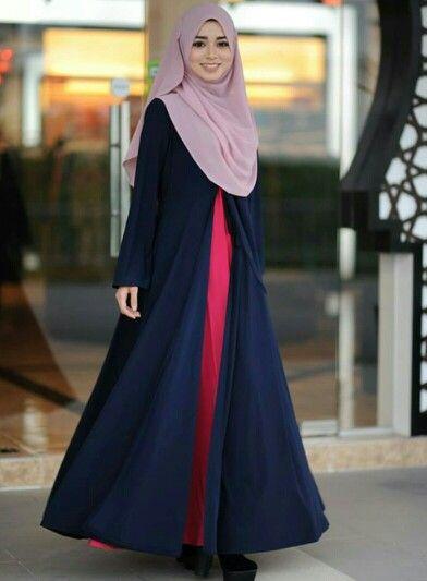 Salsabeelamuslimahattire - Hijab & Janna cardigan abaya