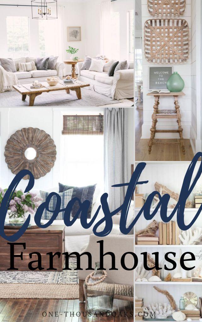 The Best Coastal Farmhouse Decor On Amazon One Thousand Oaks Coastal Farmhouse Decor Farm House Living Room Seaside Cottage Decor