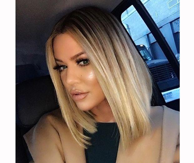 Khloe unveiled her razor sharp lob on Instagram...