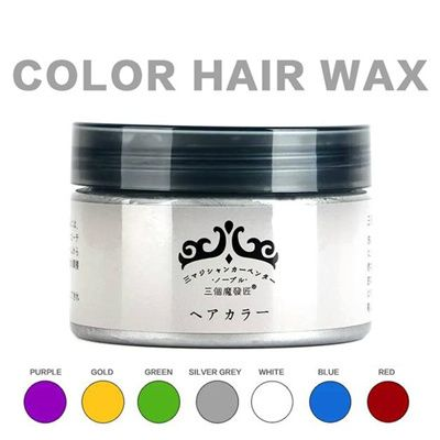 [SG Seller-KIELLP]Japan Colour Hair Wax Silver Ash Washable Hair Dye Wax Temporary Colour Hair Wax Color Dye Chalk DIY Hair Tint INSTYLE Color Silver Ash Gold Red Green Blue Purple