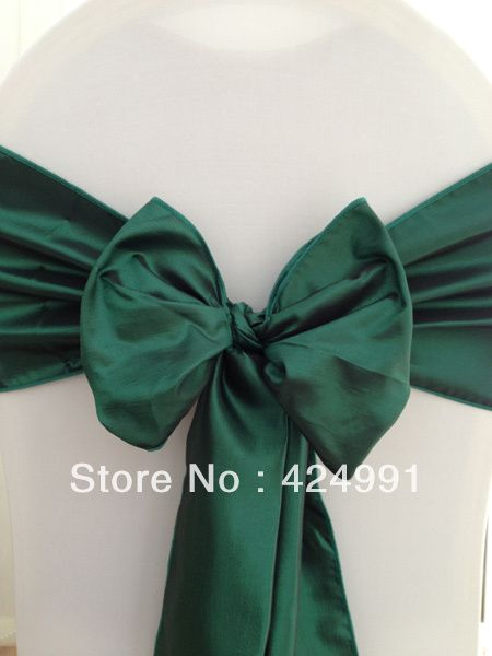 100pcs Hot Sale Forest Green Chameleon Chair Sash For Wedding Event & Party Decoration
