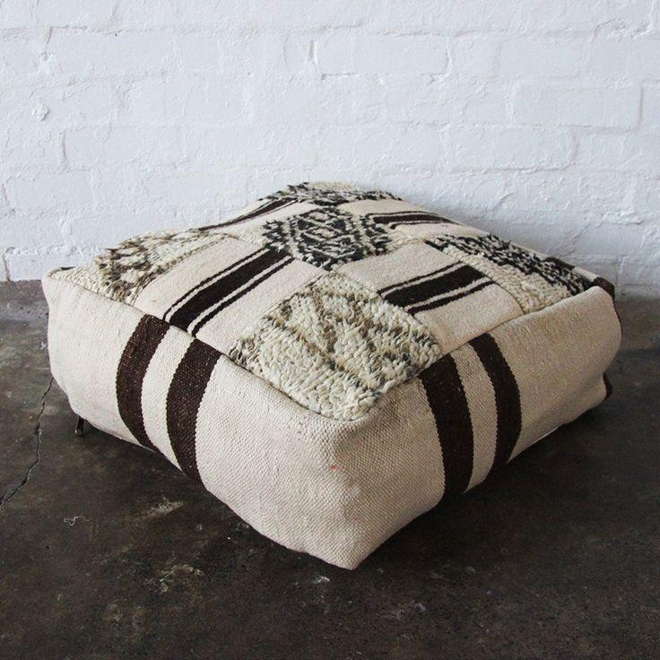 Nouvelle Nomad MULTI BENI Vintage Moroccan Beni Ourain floor cushions