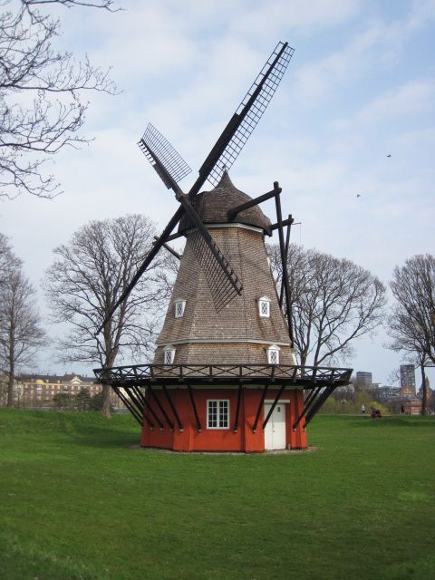 The amazing old windmill at the Kastellet fort in Copenhagen.Lighthouses Windmills