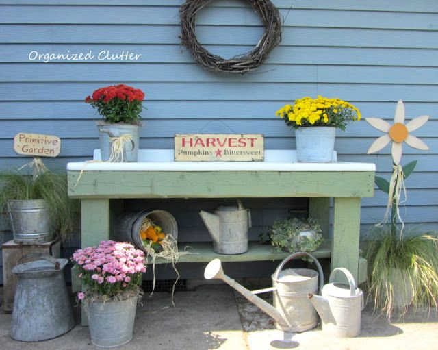An Early Fall Potting Bench