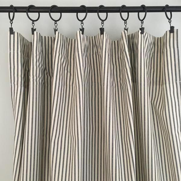 More Blackout Curtains Reviews Ticking Stripe Curtains Striped Curtains Stripe Curtains Living Room #striped #curtains #living #room