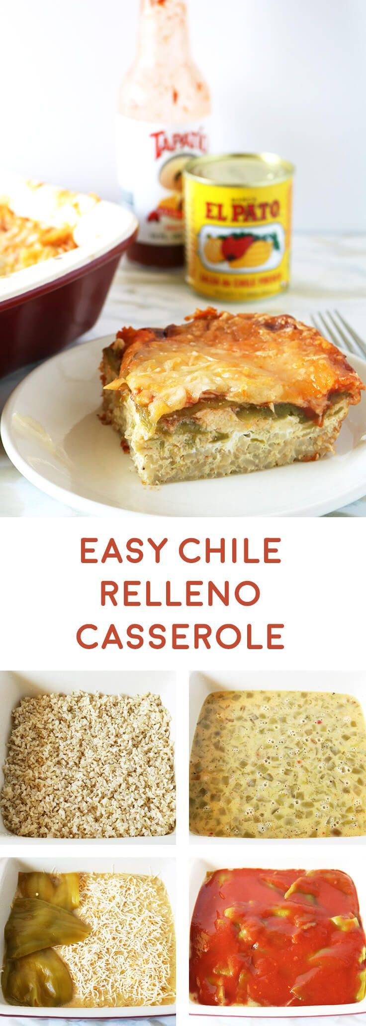 El Pato is my favorite salsa, enchilada sauce and I use the cans as planters. Easy Chile Relleno Casserole