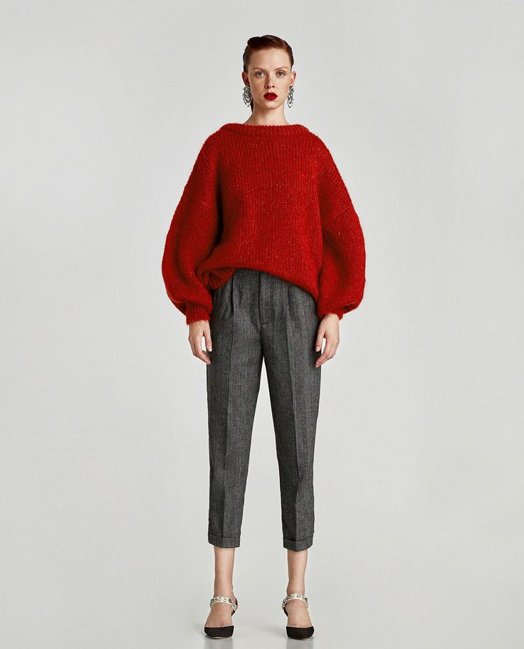 ZARA - WOMAN - CROPPED TROUSERS WITH PLEAT