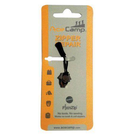 Ace Camp Zipper Repair Kit Black Nickel, M