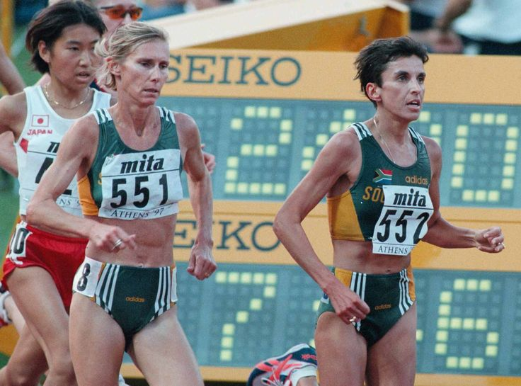 Elana Meyer running 10000m at IAAF champs in 1997.