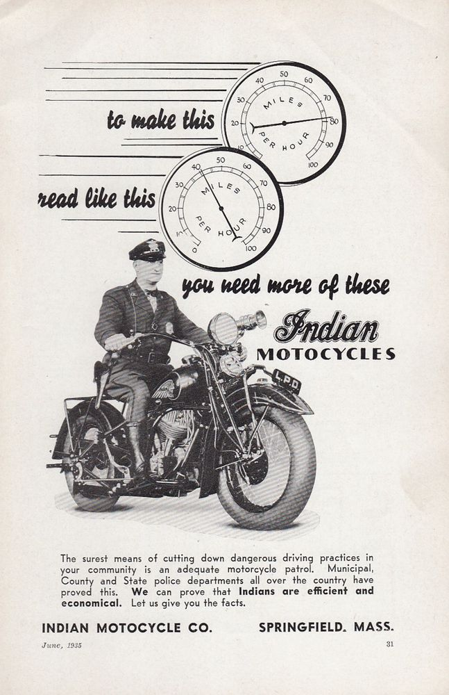 1946 Indian Chief Motorcycle 11 x 14 Matted Vintage